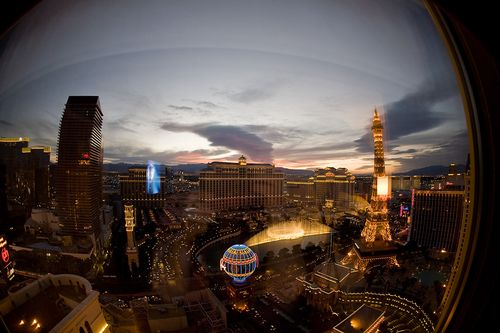 View from planet hollywood