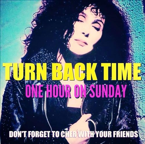 Cher-turn-back-time-daylight-savings-clock