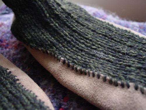 Suede-sole Slipper Socks